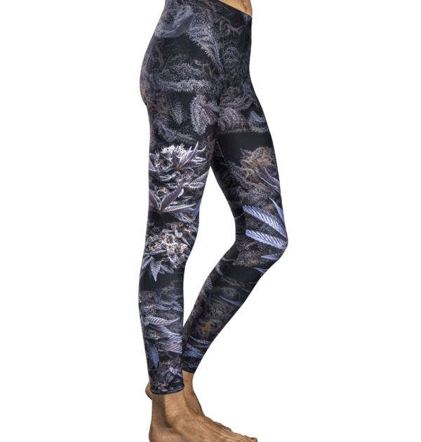Violet Flame Cannabis Leggings